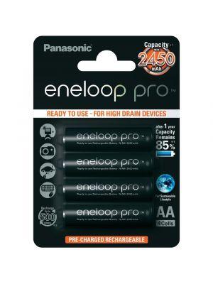 BATTERIA ricaricabile stilo Panasonic ENELOOP PRO NIMH 2500 mAh 4pz