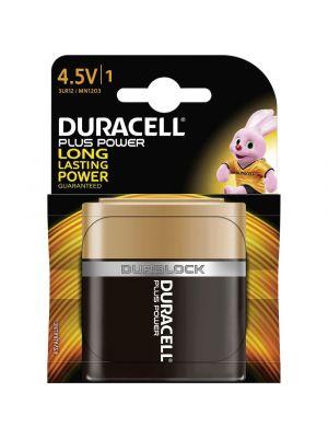 Blister 1 batteria 4,5V piatta DURACELL plus power alcalina 3LR12