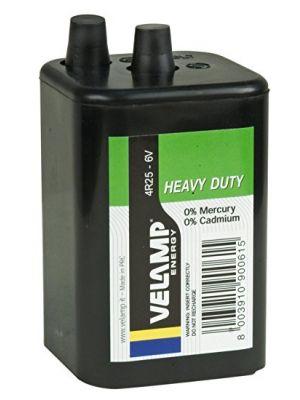 Batteria per lanterna zinco carbone 6V 4R25