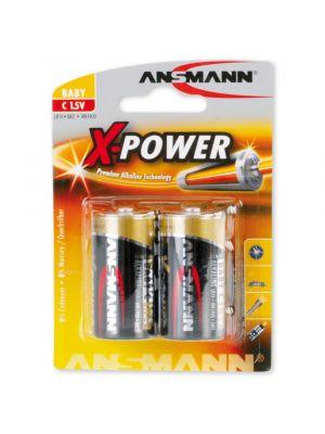 BATTERIA alcalina 1/2 Torcia ANSMANN X-POWER LR14 2 pz