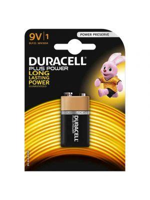 Blister 1 batteria 9V DURACELL plus power alcalina 6LR61