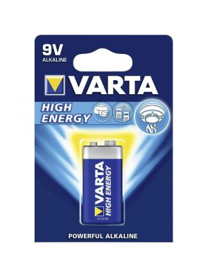 Blister 1 batteria 9V VARTA high energy alcalina 6LR61