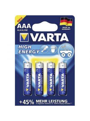 Blister 4 batterie ministilo VARTA high energy alcalina LR03 1,5V