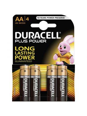 Blister 4 batterie stilo DURACELL plus power alcalina LR06 1,5V
