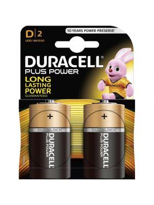 Blister 2 batterie torcia DURACELL plus power alcalina LR20 1,5V
