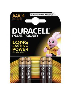 Blister 4 batterie ministilo DURACELL plus power alcalina LR03 1,5V