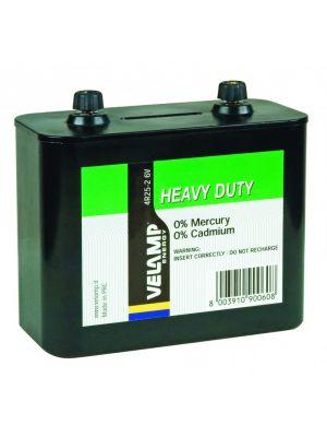Batteria per lanterna zinco carbone 6V 4R25-2