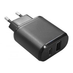 AP5USB-TC Adattatore da Rete 100-240V USB+USB TypeC 5V 3A