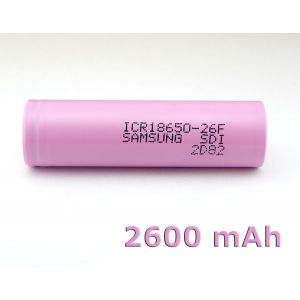 Batteria ricaricabile speciale Li-ion 18650 SAMSUNG ICR18650-26JM 3,7V 2600 mAh